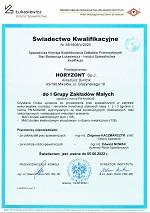 Certyfikat zakładu spawalniczego